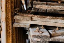 Oude houten planken